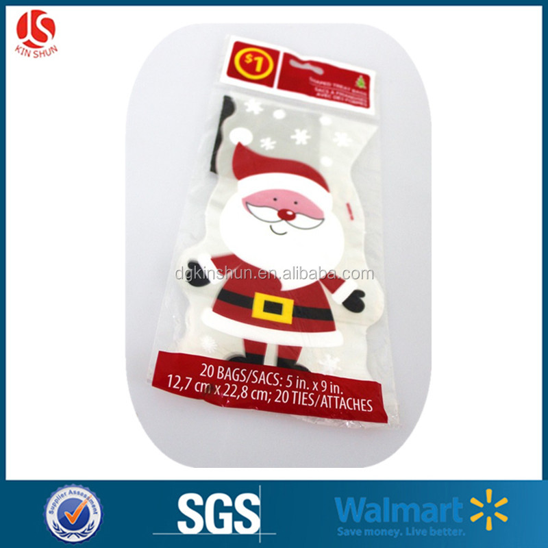 North America retailing 1 dollar store shaped gift bags Xmas treat bags