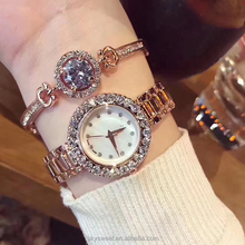 Women Bracelet Watches Fashion Luxury Lady Rhinestone Wristwatch Ladies Crystal Dress Quartz Watch(SWTM1007)