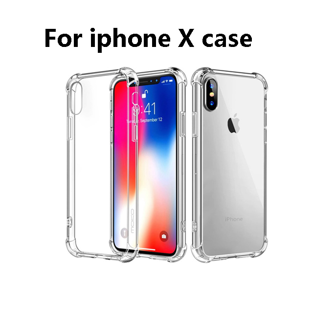High Clear Cover For Iphone XS Case Clear Tpu Anti-fall Clear Case For Iphone X XS XR XS MAX Plus Case