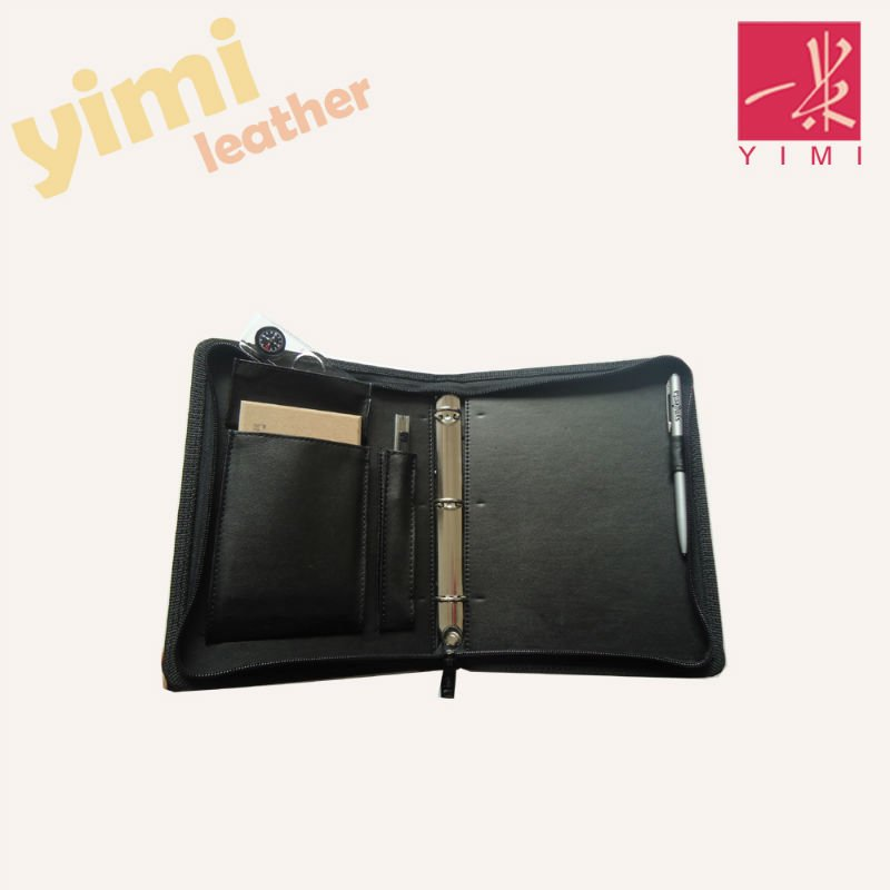 PU leather travel zip tool bag holder