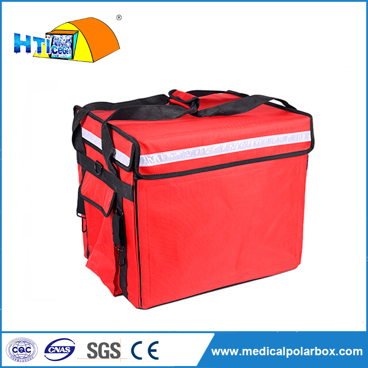 43L reusable EPP foam thermal insulated pizza lunch delivery box for scooter