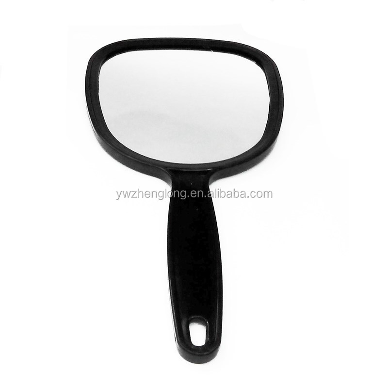 one-sided black hand held mirror for whole sale TV mirror