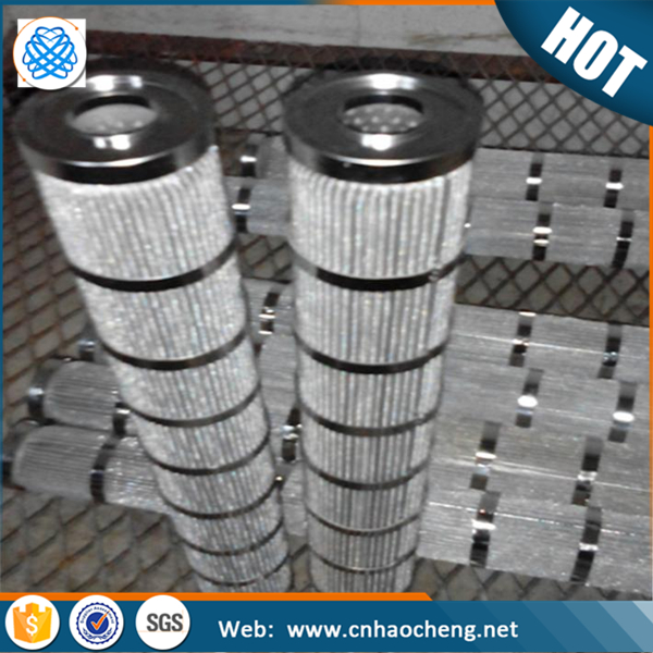 304 304L 316 316L stainless steel net fold pleated mesh metal porous filter cartridge