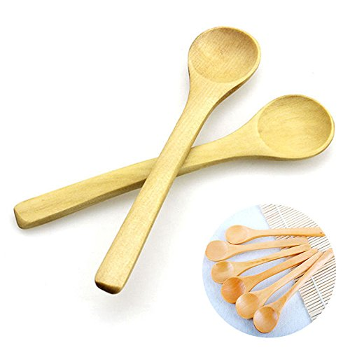 6Pcs Hot Bamboo Utensil set Kitchen Wooden Cooking Tools Spoon bamboo for Kids Baby bamboo spoon set