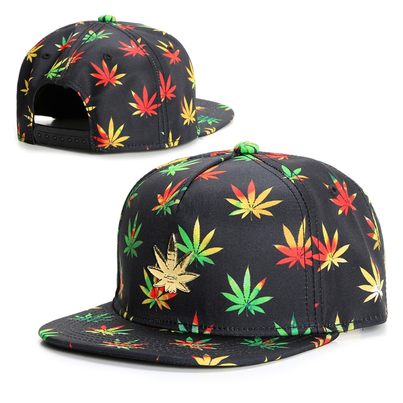 a4233b374d7 2016 latest new black colourful weed cap snapback caps baseball hats for men  women brand fashion