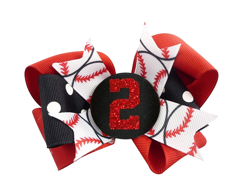 Atlanta Braves Hair Bow Baseball Hair Bow Baseball Hair Accessories Baseball Hair Clip