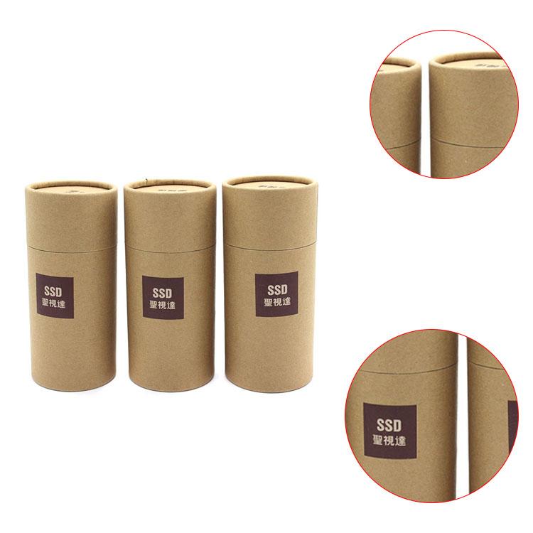 Exceptionnel Kraft tube emballage en gros de luxe ronde petite boîte ronde en  MK31