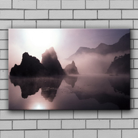 Wholesale hazy mountain river inverted image bedroom decor wall painting