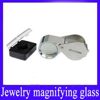 Mini magnifying glass for jewelry
