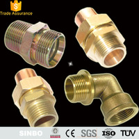 Small brass elbow adapter threaded metric hose fittings brass pipe connectors manufacturer in china