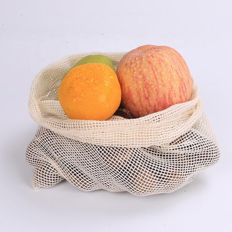 ผู้ขายที่ดีที่สุดผ้าฝ้ายธรรมชาติผลไม้สุทธิตาข่ายผลิต fishnet ช้อปปิ้งกระเป๋า