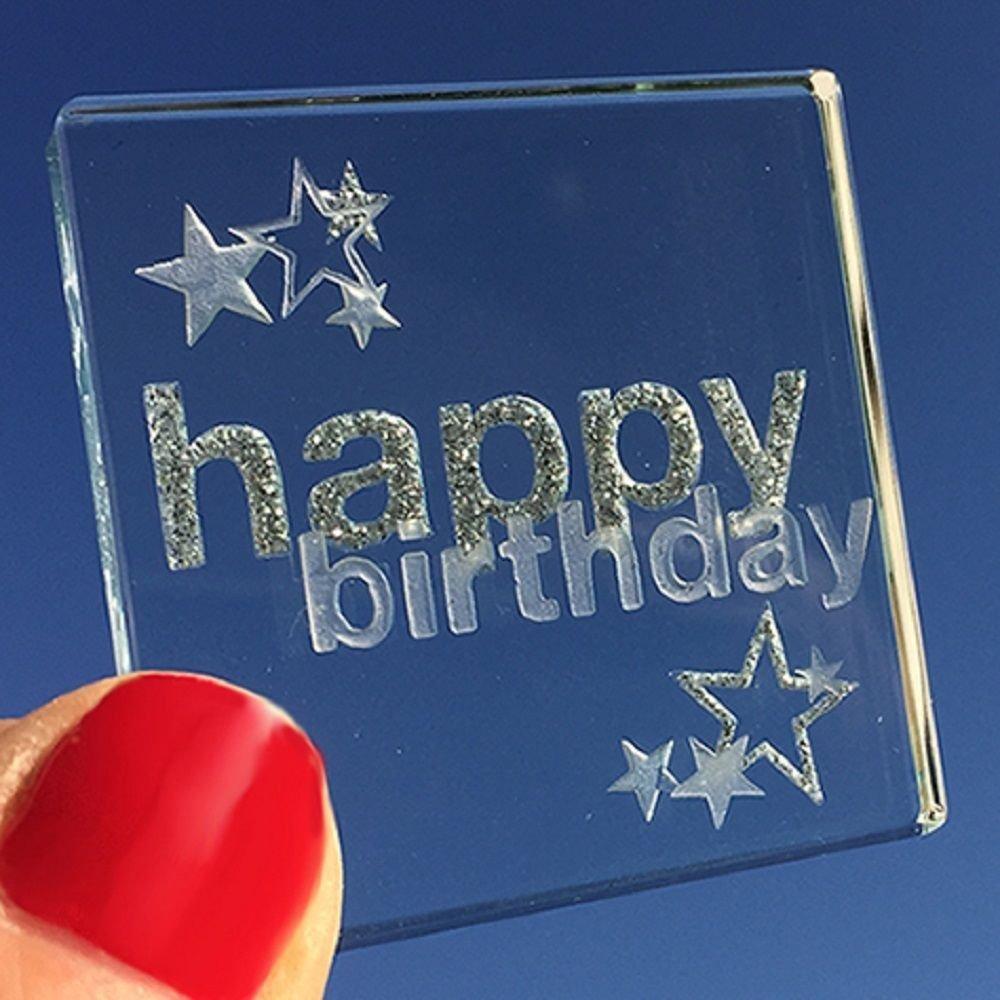 Spaceform Happy Birthday Glass Keepsake Gift Ideas Her Him Grandparents