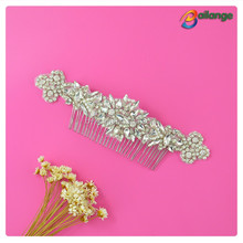 OEM service supply type wedding silver shining crystal bridal hair combs bridal headpiece