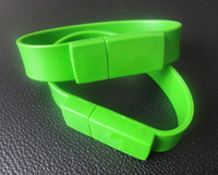 factory supply silicone USB drive bracelet flash drive wristband U disk
