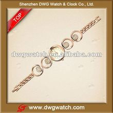 Special Lady Gold Alloy Bangle Watch For Newest Style