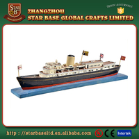 Custom made wholesales decorative polyresin ship sculpture model