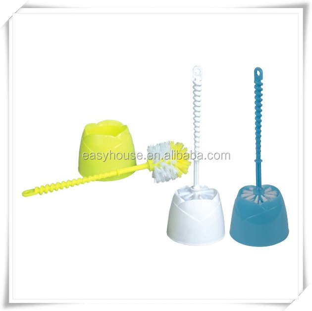 Hot sell cheap toilet bowl cleaning brush with holder plastic tb014