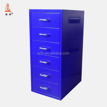 Half Height Stainless Steel Storage Cupboard Metal Office Furniture Drawer  Filing Cabinet With 6 Drawer
