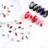 new design nail art decoration multicolor nail diamond waterdrop shape rhinestone flat back glass stone