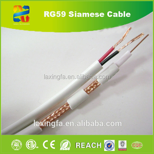CCTV 75 ohms RG59 UV Stabilized Jacket Coaxial Cable Coaxial RG59 Cable for Indoor CATV System
