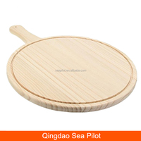 Round Pizza Pan Tray Wooden Paddle Peel Plate Pie Pancake Baking Cutting Stand Kitchen Tools Pizza Stones Serving Board