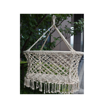 3613fac23a8c Indoor And Outdoor Portable Cotton Rope Hanging Net Patio Swing Crib ...