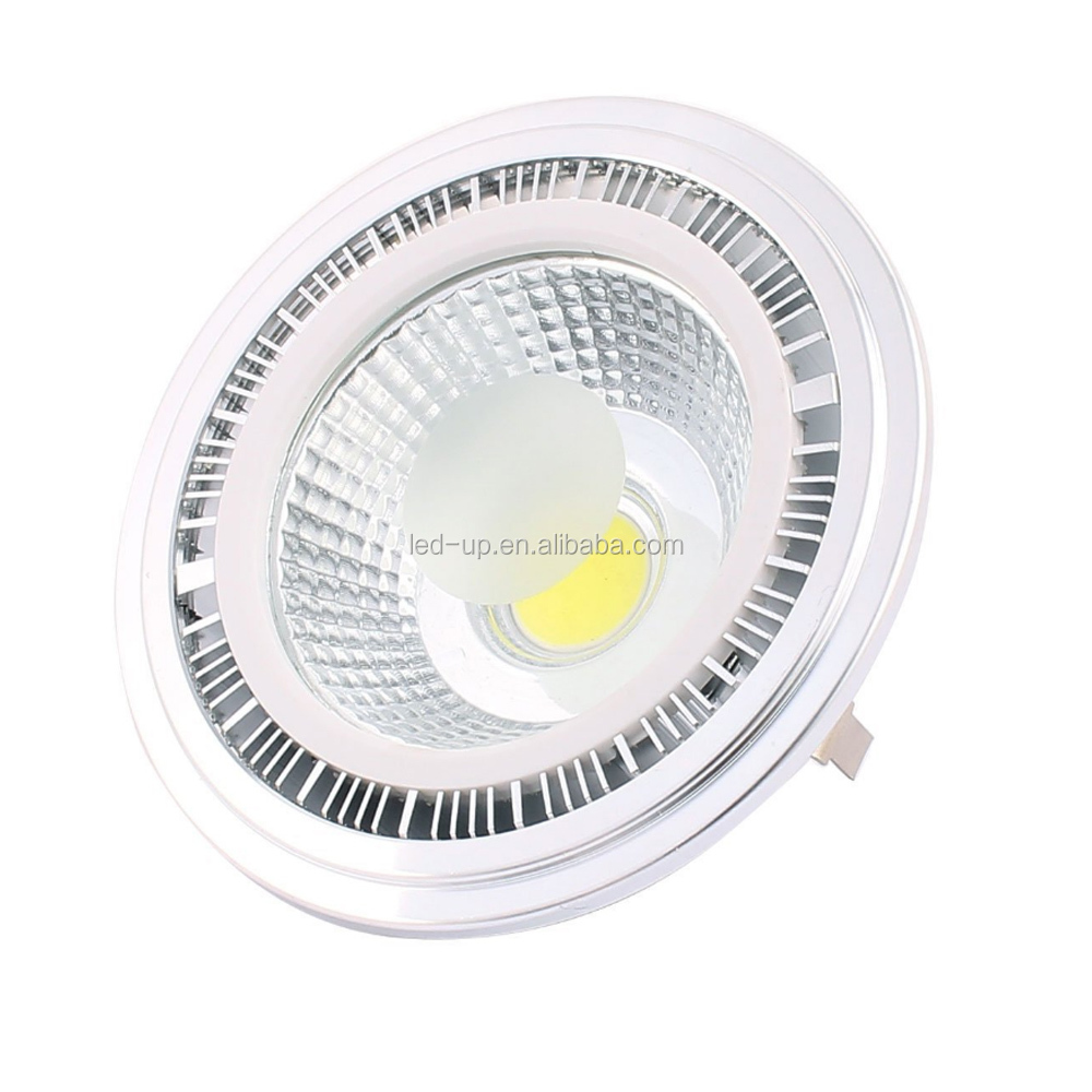 Factory Price 15 30 Degree High Power Ar111 Led Cob Spotlight Lamp Fixture Dimmable G53 Gu10 E27 Base