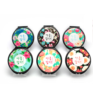 Promotional Advertising Gift Portable Vanity Mirror Plastic Pocket Makeup Mirror Double Sided Compact Mirror