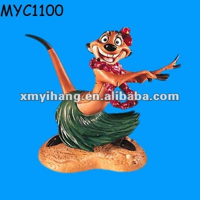 Luau party supply lion king with artificial hawaiian flowers