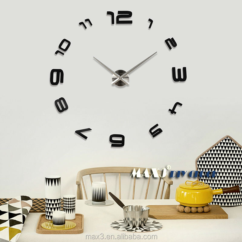 Large Wall Clock India Electronics Online Christmas Decorative