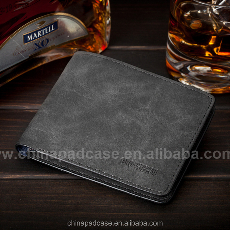 Good qulity vintage leather wallet for men, Generous crazy horse leather wallet for boy, casual boy wallet