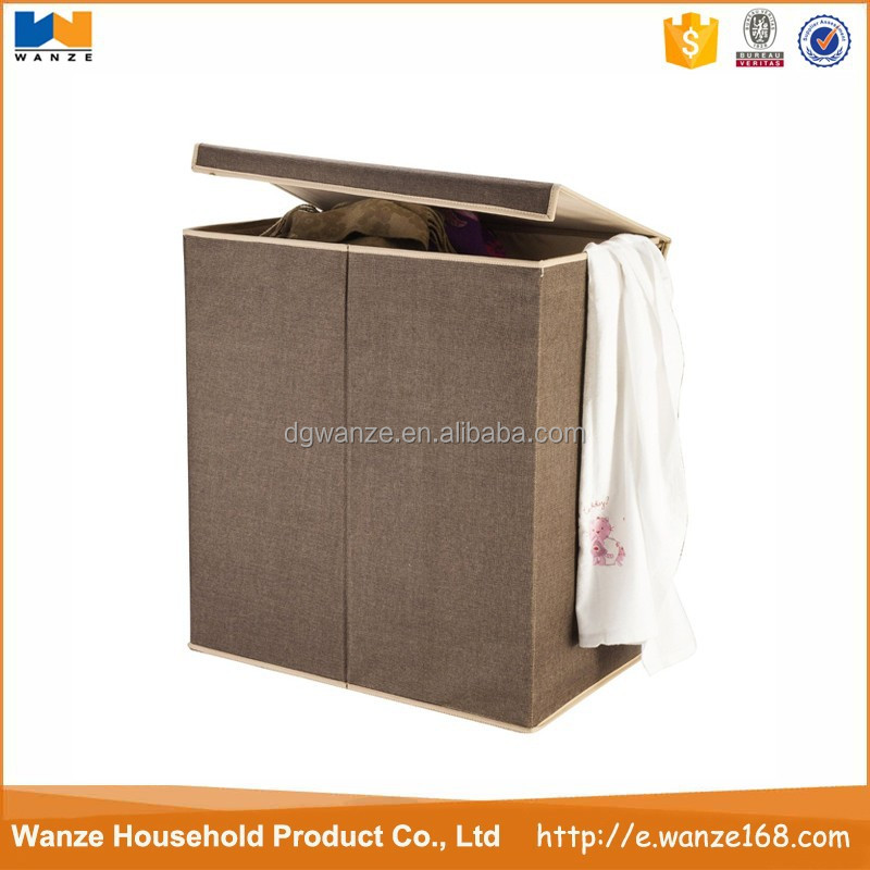 Double laundry hamper , foldable laundry basket