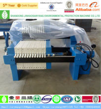 Small membrane type chamber filter press