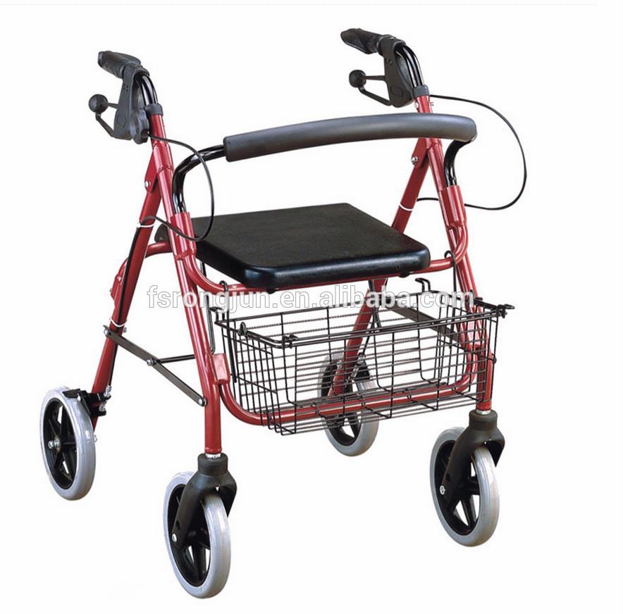 Light Weight Aluminum Adult Rollator Shopping Cart Walking