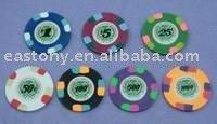 10g Real Clay Paulson Style Casino Poker Chips no metal insert