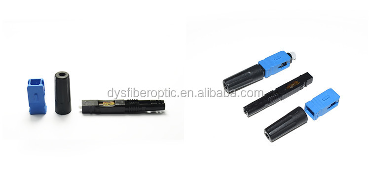 50mm FTTH Field Terminated Fast Assembly Opticcl SC UPC Quick Connector