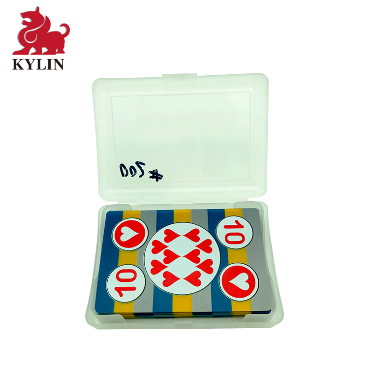 100% Waterproof Plastic Playing Cards with Case, Standard Index - Casino Quality Cards for Black Jack, Rummy, Poker, Magic Props
