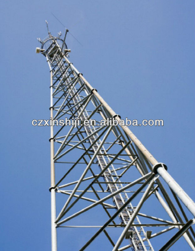 Electric transmission line steel tower, 220KV Terminal Transmission Line Tower, transmission line angle steel tower