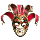 Luxurious Multi-Color Venetian Red Full Face Man Mask for Masquerade