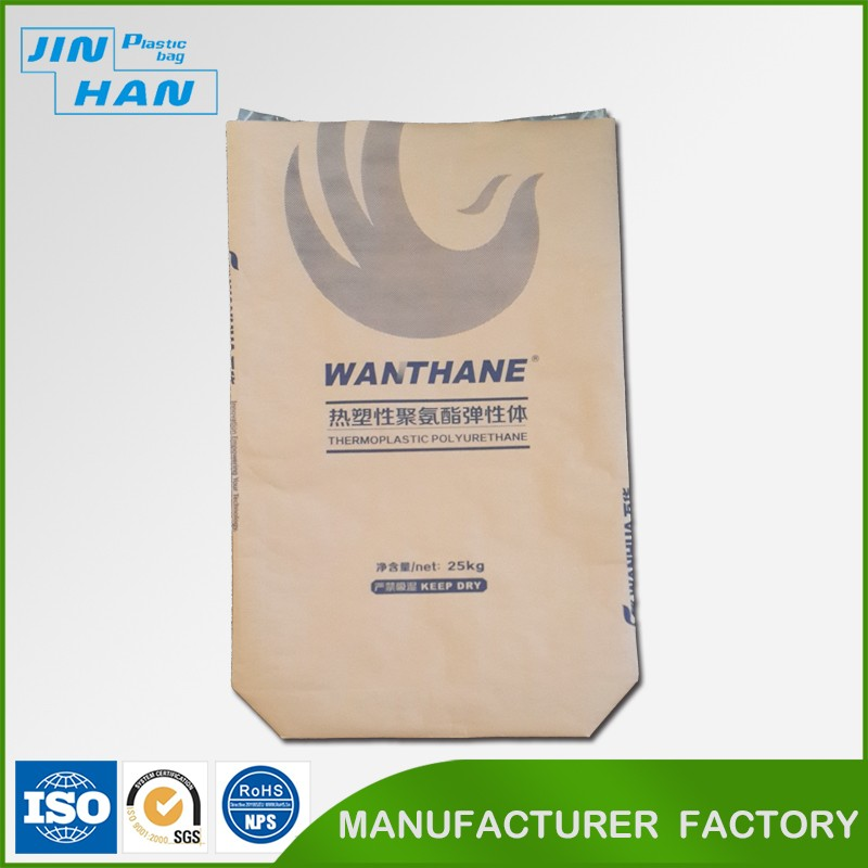 Durable 25kg Plastic Coated Kraft Paper Bag for Chemical Raw Material