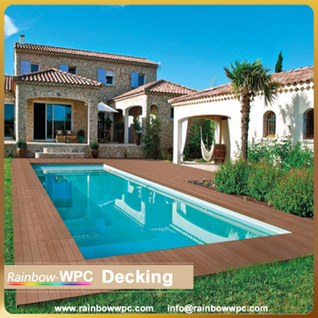 Waterproof Solid Swimming Pool Decking,Newteck 2015 Ecological Wpc  Floor/decking Composite Floor Bridge/ Swimming Pool Flooring - Buy  Composite ...