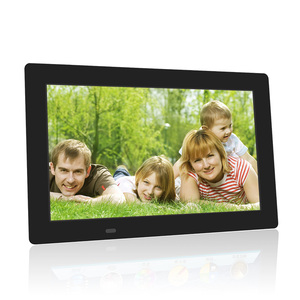 Factory directly sales 12 inch video playback digital photo frame WIFI battery / touch screen