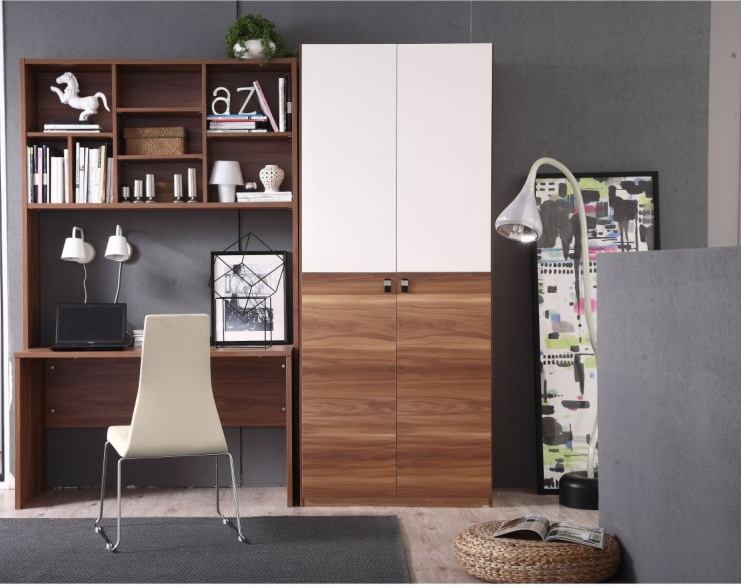 2014 New Design Study Table With Bookshelf And The Children Wardrobe Was  Made From E1 Solid Chipboard For Bedroom Furniture   Buy Study Table With  Bookshelf ...