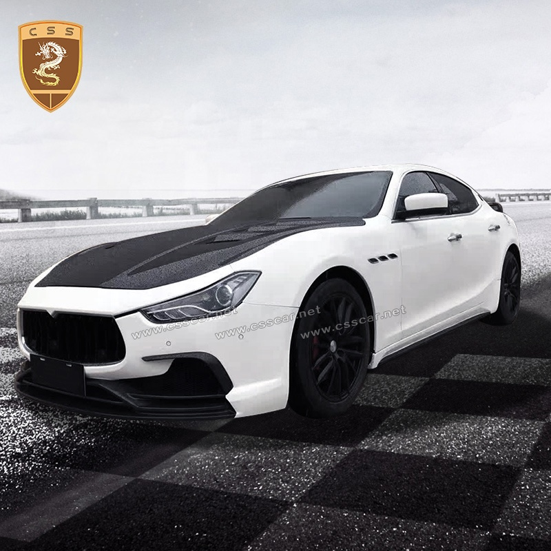 Front Bumper Kit Hood Body kits Car Auto Parts Suitable For Maserati Ghibli Body kit