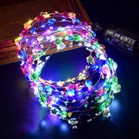 Party Hair Accessories LED Plastic Flower Crown Headband for Bridal Shower Bridesmaid Gifts