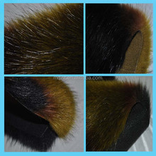 Fake fur animal fur jacquard modacrylic material 2200g high weight faux fur pom