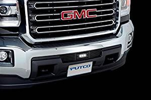 Putco Black Steel Lighted Bar Bumper Grille Insert for 2015 GMC Sierra HD