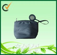 600 D polyester cosmetics bags cases with mirror and EPE wadding