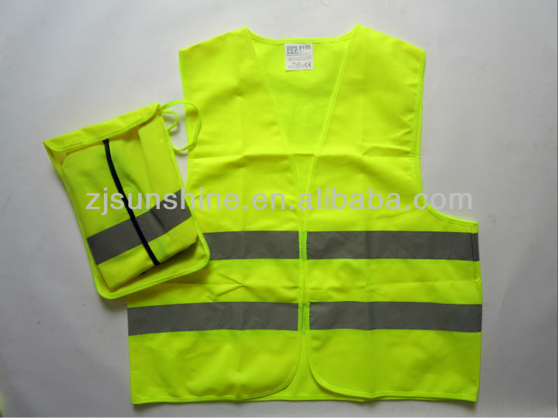 high visibility road traffic reflective jacket