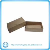 Blank kraft paper lid and base folding apparel packaging supplies